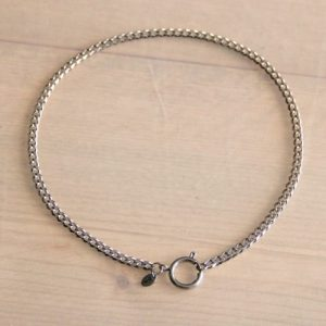 Stainless steel chain necklace 5mm with large round clasp -silver – SS213
