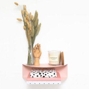 Arc Double Shelf   Blush Pink