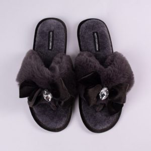 Diana Embellished Toe Post Slippers in Smoke - Pack of 8 - Diana Smoke 1 NBrownZoom 500x500