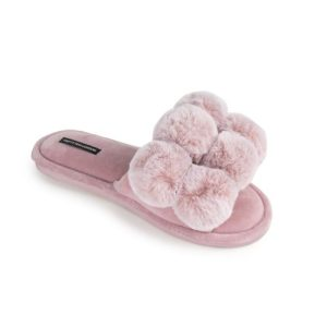 Dolly Pom Pom Slippers in Pink - Pack of 8 - Dolly Pink 500x500
