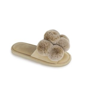 Dolly Pom Pom Slippers in Caramel - Pack of 8 - Dolly Sand 500x500