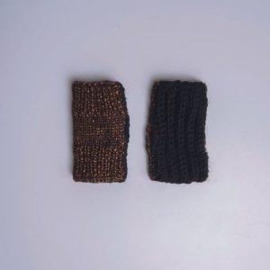 Double Face Alpaca gloves (black + copper)