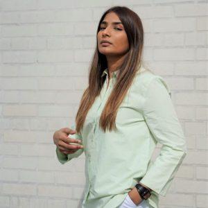 Tailored Panel Shirt - EDIT  DSC3768 green shirt closer  500x500