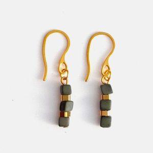 Leticia Mini Tagua Nut Drop Earrings – Green