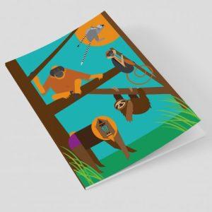 Monkeys A5 Notebook - Ellie Good Illustration A5 monkeys notebook crop 500x500