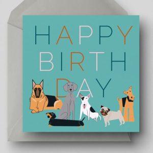 Happy Birthday Dogs Greetings Card - EllieGoodIllustration HappyBirthdayDOGS card 500x500