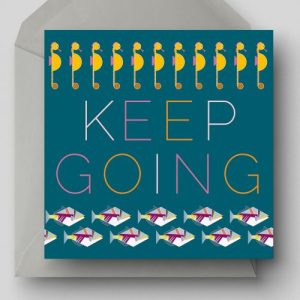 Keep Going Greetings Card - EllieGoodIllustration KeepGoing card 500x500