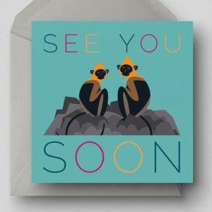 See You Soon Greetings Card - EllieGoodIllustration SeeYouSoon card 500x500
