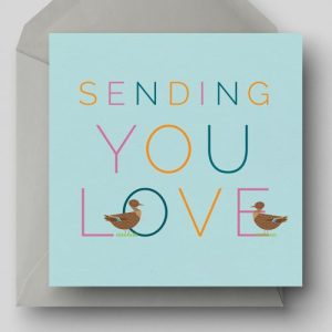 Sending You Love Greetings Card - EllieGoodIllustration SendingYouLove card 500x500