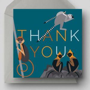 Thank You Greetings Card - EllieGoodIllustration ThankYou card 500x500