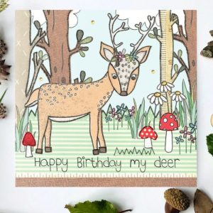 Flossy Teacake Deer Woodland Card - FOJ 2429 Deer Woodland Birthday Card BASE product image 1 Marketplace WorkingFormat Marketplace Converted Zoom 500x500