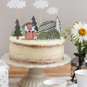 Flossy Teacake Fox Woodland Cake Topper - FOJ 2429 Fox Cake Topper BASE product image 1 Marketplace WorkingFormat Marketplace Converted Zoom 500x500