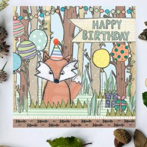 Flossy Teacake Fox Woodland Card - FOJ 2429 Fox Woodland Birthday Card BASE product image 1 Marketplace WorkingFormat Marketplace Converted Zoom 500x500
