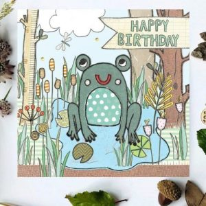 Flossy Teacake Frog Woodland Card - FOJ 2429 Frog Woodland Birthday Card BASE product image 1 Marketplace WorkingFormat Marketplace Converted Zoom 500x500