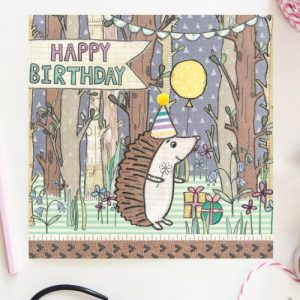 Flossy Teacake Hedgehog Woodland Card - FOJ 2429 Hedgehog Woodland Birthday Card BASE product image 1 Marketplace WorkingFormat Marketplace Converted Zoom 500x500