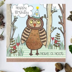 Flossy Teacake Owl Woodland Card - FOJ 2429 Owl Woodland Birthday Card BASE product image 1 Marketplace WorkingFormat Marketplace Converted Zoom 500x500