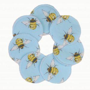 Blue Bee Soft Reusable Face Wipes Fleece – Set of 7