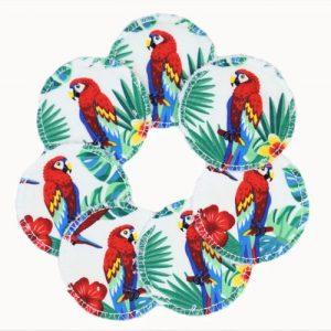 Parrot Soft Reusable Face Wipes Fleece – Set of 7