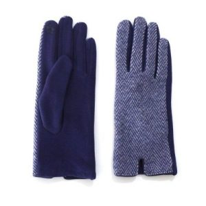Blue Tweed Touch Screen Gloves