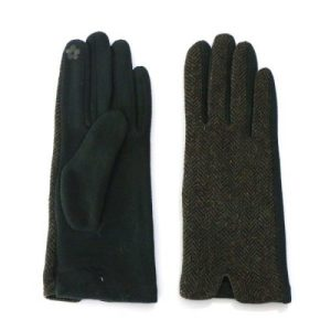 Green Tweed Touch Screen Gloves
