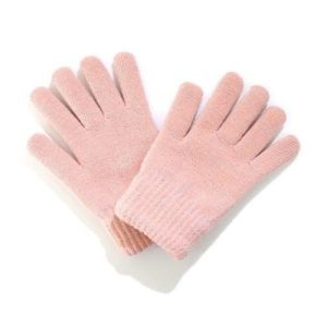 Pink Winter Woolly Knitted Gloves
