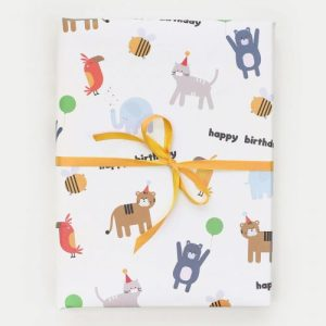 Animals Birthday Wrapping Paper