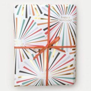 Rainbow Burst Birthday Wrapping Paper