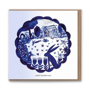 Happy Fathers Day 'In the Garden' Blank Greetings Card