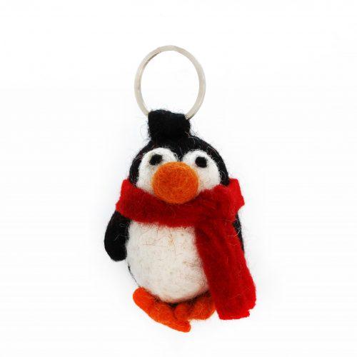 Handmade Felt Cosy Penguin Keyring