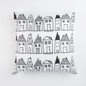 Cushion Cover Home, Black and white | Pure Italy Hand made