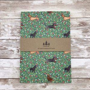 Dachshund Tutti Frutti A5 lined notebook - IMG 1148 scaled 1 500x500