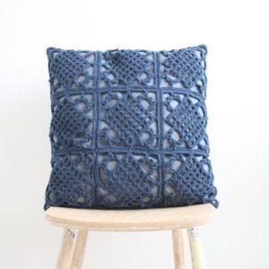 Crochet pillow L - Blue - IMG 3403 500x500