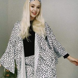 Love Heart Kimono Pyjama Set