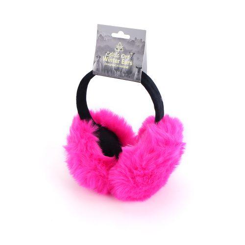 Pink Faux Fur Ear Muffs