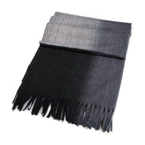 Black/Grey Shades Wool Blend Scarf 70cm x 190cm