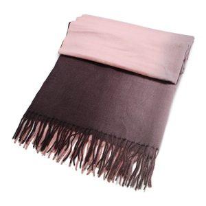 Pink/Grey Shades Wool Blend Scarf 70cm x 190cm