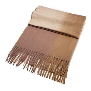 Beige/Cream Shades Wool Blend Scarf 70cm x 190cm