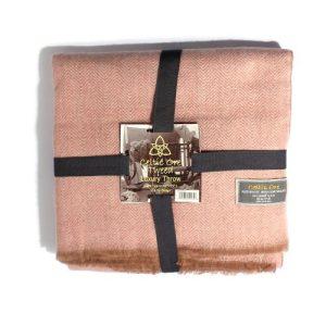 Pink Wool Blend Throw 120cm & 150cm