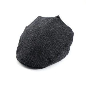 Tweed Hat Grey Herringbone Extra Large
