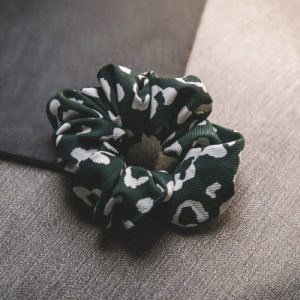 Kamali Leopard Print Scrunchie – Green