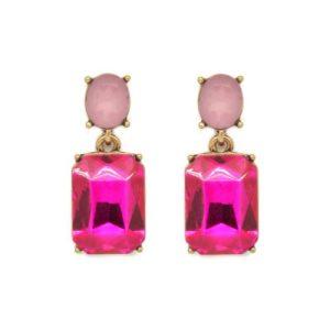 Simple Gem Earrings in Pinks - LTE09P 500x500