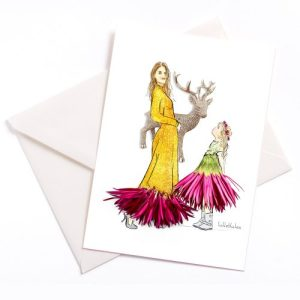 Look at the moose card - Luetteblueten 0126 Elch 500x500