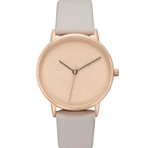 Rose Gold & Cloudy Grey With Taupe   Lyka Watch