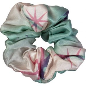 Sustainable scrunchie – blue star silk