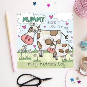Flossy Teacake Mummy Thank you for all the milk Card - Milk 500x500