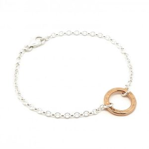 Circle of Life - small rose gold ring bracelet - NAIIAD Circle of Life small rose gold ring bracelet 500x500