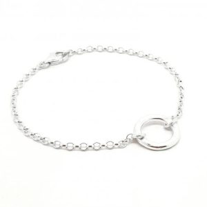 Circle of Life - small silver ring bracelet - NAIIAD Circle of Life small silver ring bracelet 500x500