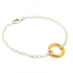 Circle of Life - small yellow gold ring bracelet - NAIIAD Circle of Life small yellow gold ring bracelet 500x500