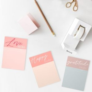 Set of 3 Notepads - Gratitude, Happy and Love Notes - Notepads set  500x500