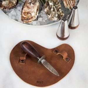 Oyster Knife With Leather Glove by Brut Homeware - Oyster Knife styling Brut 2 500x500